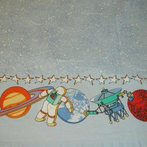 Kids Space Astronaut Constellations Twin Sheet